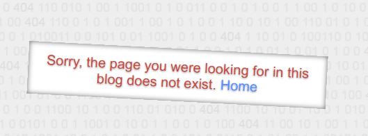 404 error page not found